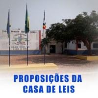 AS PROPOSIÇÕES DA CASA DE LEIS