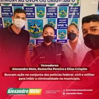 VEREADORES DE GUAJARÁ-MIRIM E AS POLÍCIAS CIVIL, MILITAR,  FEDERAL E  DE FRONTEIRA PROCURAM MELHORIAS PARA SEGURANÇA PÚBLICA